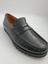 New Mens Bally Noley Black Calf Leather Loafers Shoes Size US 6.5 /EUR 39.5 $600