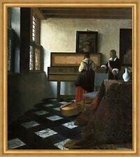 Herr und Dame am Virginal Vermeer Musik Cello Klavier Musiklehrer LW H A1 0289