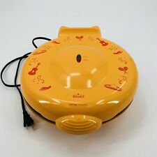 """Rival QM100 Quesadilla Maker Yellow Red 12"""" Tortillas Non-stick Surface Works"""