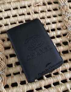 Chanel Complimentary Passport Holder Saffiano PVC Leather