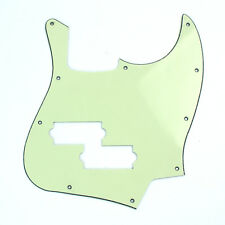 Guitar Pickguard For Black Top Jazz Bass with PB Pickup hole ,3ply Mint Gre