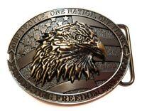 Classic American EAGLE Full Metal BELT BUCKLE COUNTRY Western bronze gun metal