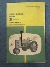 Vintage John Deere Model B Series Tractors Operator's Manual