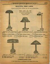 1926 PAPER AD Hand Woven Reed Lamp Lamps Floor Table Bridge Gate Leg Table Tea