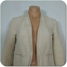 ANN TAYLOR LOFT Women's Linen Blend Beige Open Blazer Jacket , size 0