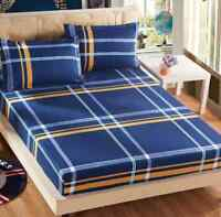 Simple British Style Cartoon Single Double Queen King Size Bed Fitted Sheet La