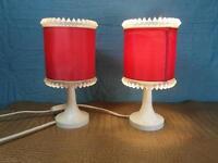 2 Stück Nachttischlampe Design Lampe Kunststoff Nachtlicht Plexiglas Paar o12b3