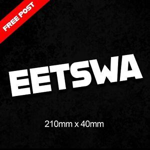Eetswa Sticker Decal 210mm x 40mm Aussie Sticker Sydney woolloomooloo sticker