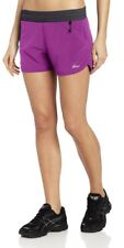 ASICS Women's Fujitrail 4-Inch Shorts, Purple And Gray, Large With ASICS Socks