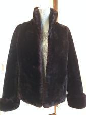 GORGEOUS GENUINE VINTAGE MOUTON COAT- SHEEPSKIN SHEARED LAMB (Sz: S/M)