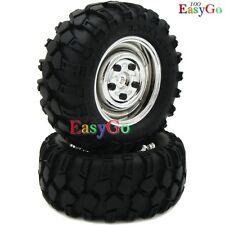 RC 1/10 90MM 2PCS 1.9'' Crawler Tires Wheels for Axial Tamiya cc01 F350 RC4WD