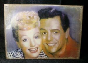 I LOVE LUCY Lucille Ball Vintage Handmade T.V. Legend Art sign