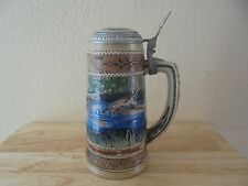 Vintage 1987 The Carolina Collection Wood Duck Lidded Beer Stein