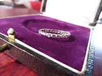 Wundervoller 925 Silber Ring Zirkonia Optik Sterling Ketten Erbsen Optik Schmal