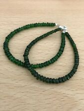 """Chrome Diopside 6.5"""" Bracelet with Sterling Silver Magnetic Clasp"""