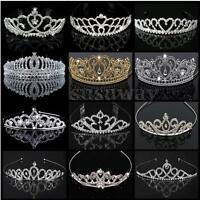 Wedding Bridal Princess Prom Silver Crystle Diamond Party Crown Tiara Jewellery
