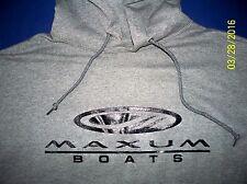 Maxum Boats Screen Printed Oxford Hooded Sweatshirt 9.5 oz. Heavy 50/50s