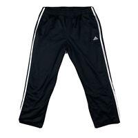 Adidas Women's Medium Capri Crop Activewear Straight Leg Pants Pockets Black