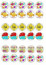 GOOD LUCK  EDIBLE RICE WAFER PAPER CUP CAKE TOPPER X30