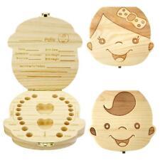 Wooden Kids Baby Tooth Box Organizer Milk Teeth Wood Storage Box for Boy Gifts