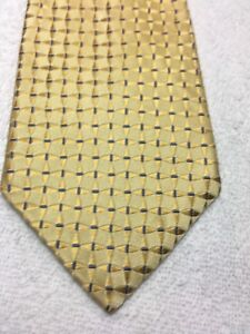 JONES NEW YORK MENS TIE GOLD WITH BLUE 4 X 60 NWT