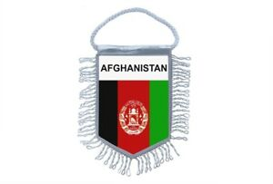 Mini banner flag pennant window mirror cars country banner afghanistan