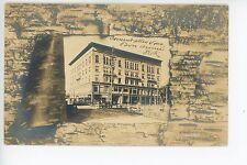 Johnsonia Hotel FITCHBURG MA Antique RPPC Toy & Camera Store Photo AZO 1910s