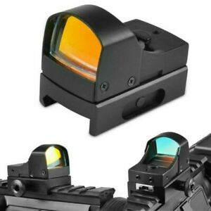 Mini Leuchtpunktvisier / Red-Dot mit 4 Stufen Reflexvisier Rotpunktvisier Jagd