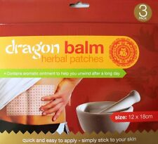 3X PAIN RELIEF DRAGON BALM HERBAL BACK BODY PLASTERS PATCHES MUSCLES DEEP HEAT