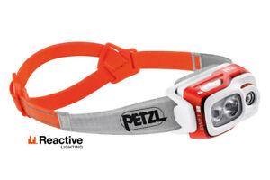 Petzl Rapide Rl 900 Lumens Rouge Phare Léger Homme Femmes Course Lampes