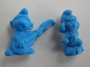 Bundle 2 Figurines The Smurfs Serie Omo 1983 Mini Figurines Vintage PVC
