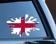 England Flag Splat Decal Sticker Car, Van, Laptop suit case Rugby Football Sport