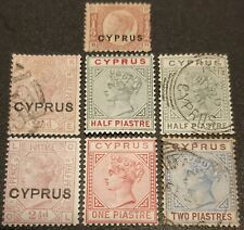 CYPRUS / Lot of 7 stamps MH & Used Queen Victoria !!