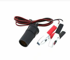 12V 10A 120W Car Cigarette Lighter Charger cable Female Socket Plug With Clamps