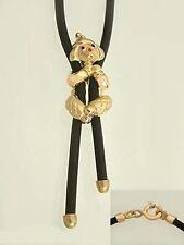 Clown Gold 375 - Kautschukkette mit Anhänger Clown - Collier - Goldkette