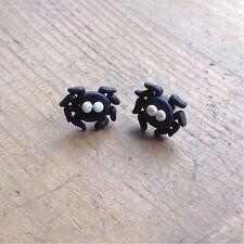 earrings Spider Studs Bugs Goth Handmade Fimo Cute Emo