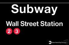 Wall Street New York Subway Station Sign Metal