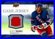 SCOTT GOMEZ 2007-08 UD GAME JERSEY EDITION G/U JERSEY