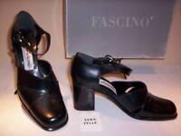 Scarpe décolleté Fascino donna tacchi pelle neri 36