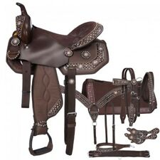 """Western Brown 7 Piece Package Synthetic Saddle Deal 17"""""""