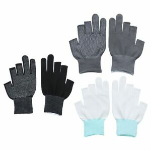 Sun Protection Open/Half Fingers Driving Mittens Anti-Slip Fishing Gloves