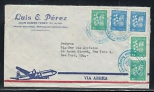 DOMINICAN REPUBLIC Commercial Cover Santo Domingo to New York 28-3-1962 Cancel