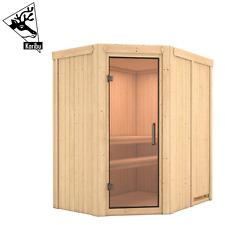 Karibu Sauna Saunahaus Heimsauna Elementsauna Innensauna Fichte MYNTE 196x151 cm