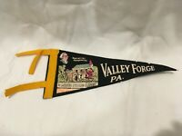 "Vintage 1960s Valley Forge Pa. Pennant Felt Flag 11"" Washington's Headquarters"