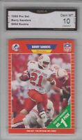 GMA 10 Gem Mint BARRY SANDERS 1989 Pro Set ROOKIE Card Detroit Lions HOF LEGEND!
