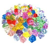 50Pcs Mixed Color Exquisite Geometric Simulated Ice Cube Acrylic Small Pell Z2T2