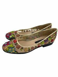 Beverly Feldman Frankie and Baby Embroidered Flat Shoes Size 8 M