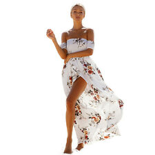 NEW Women's Off Shoulder Floral Midi Dress Summer Party Long Maxi Beach Sundress