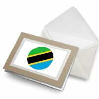 Greetings Card (Biege) - Tanzania Flag Map  #9023