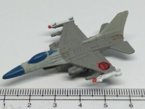 MICRO MACHINES MILITARY Aircraft General Dynamics F-16 Falcon RED SKULL 💀